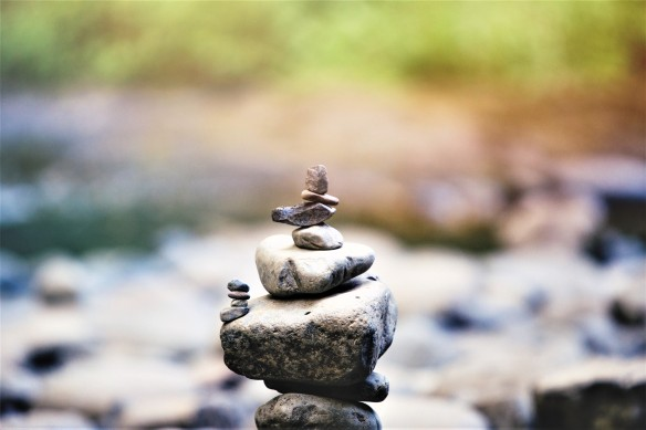 rocks balanced